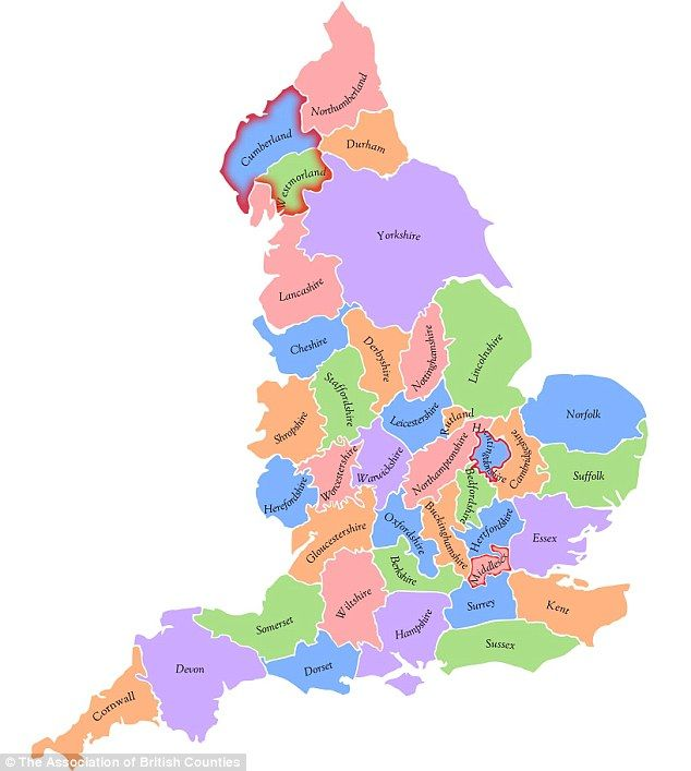 Map Of England Over Time.The Return Of Westmorland And Huntingdonshire Historic County Names