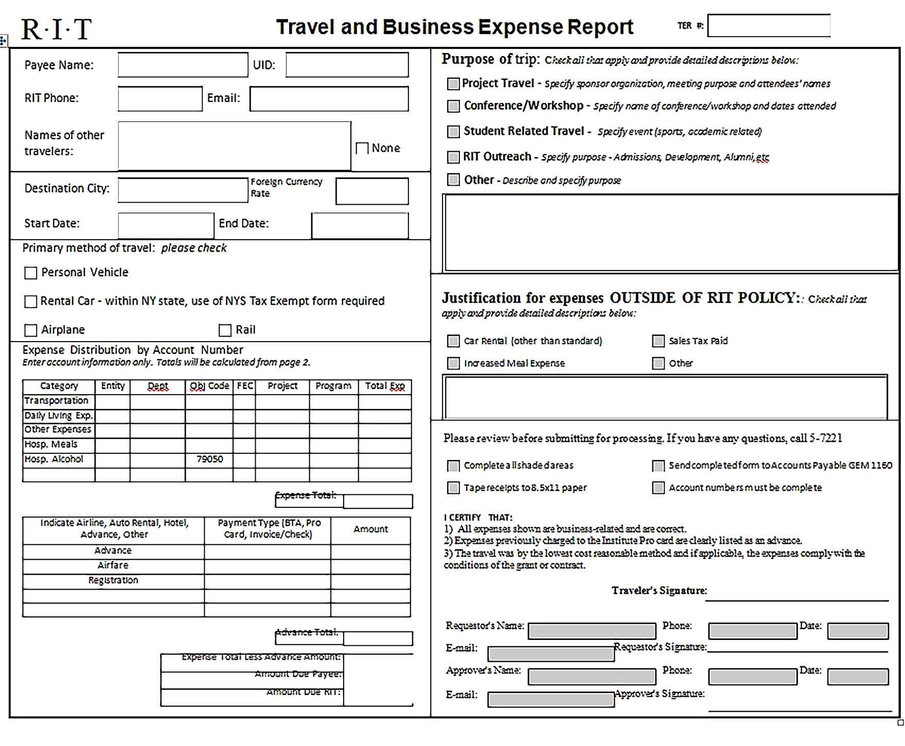 Simple Expense Report Templates Report Template Templates Business Template