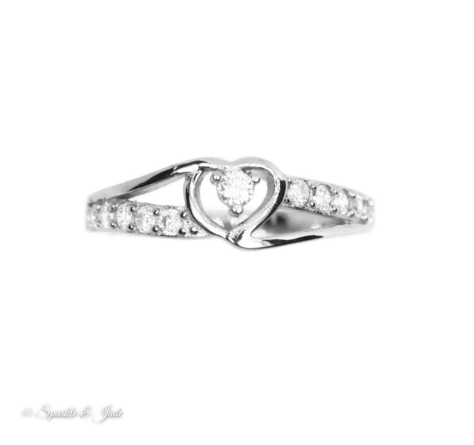 Sterling Silver Infinite Heart Cz Promise Ring Promise Rings