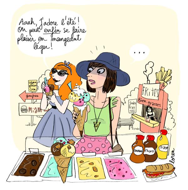foto de C'est l'été mangez léger Illustrated stories by loren