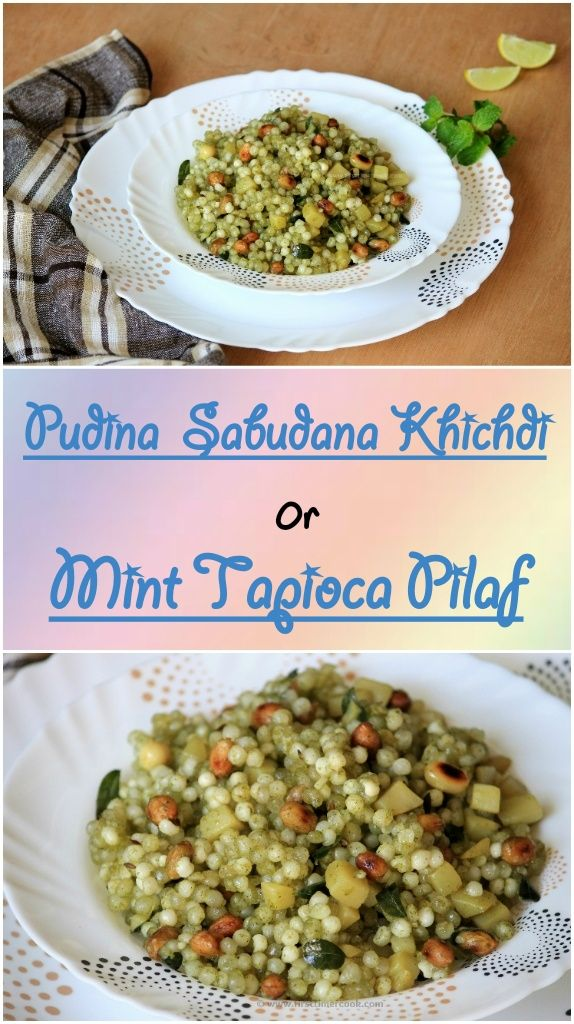 Sabudana khichdi is usually prepared and eaten most during the fasting days like navratri or any festivals. By adding the pudina or mint flavor, the bland taste of the sabudana'll turn into lip smacking one. This pudina sabudana khichdi is lightly spiced. Also it can be an appetizing and filling brunch or snack. The spiciness is due to the addition of green chilies, if preferring for kids then just avoid the green chilies.