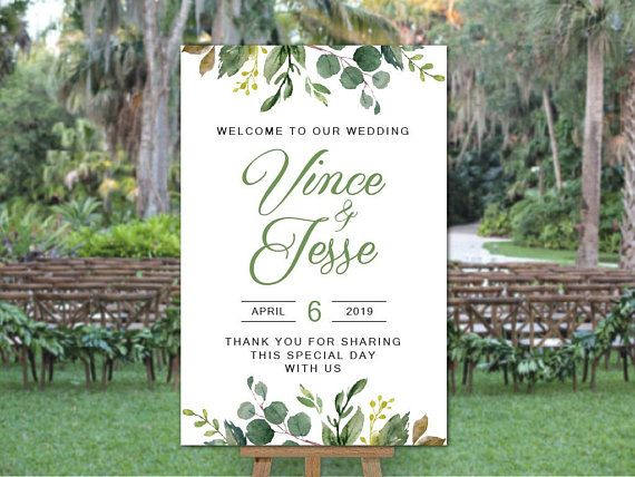 Pin On Wedding Welcome Signs