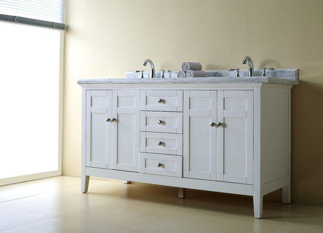 White Double Sink Bathroom Vanity Cabinet Bathroom Double Vanity