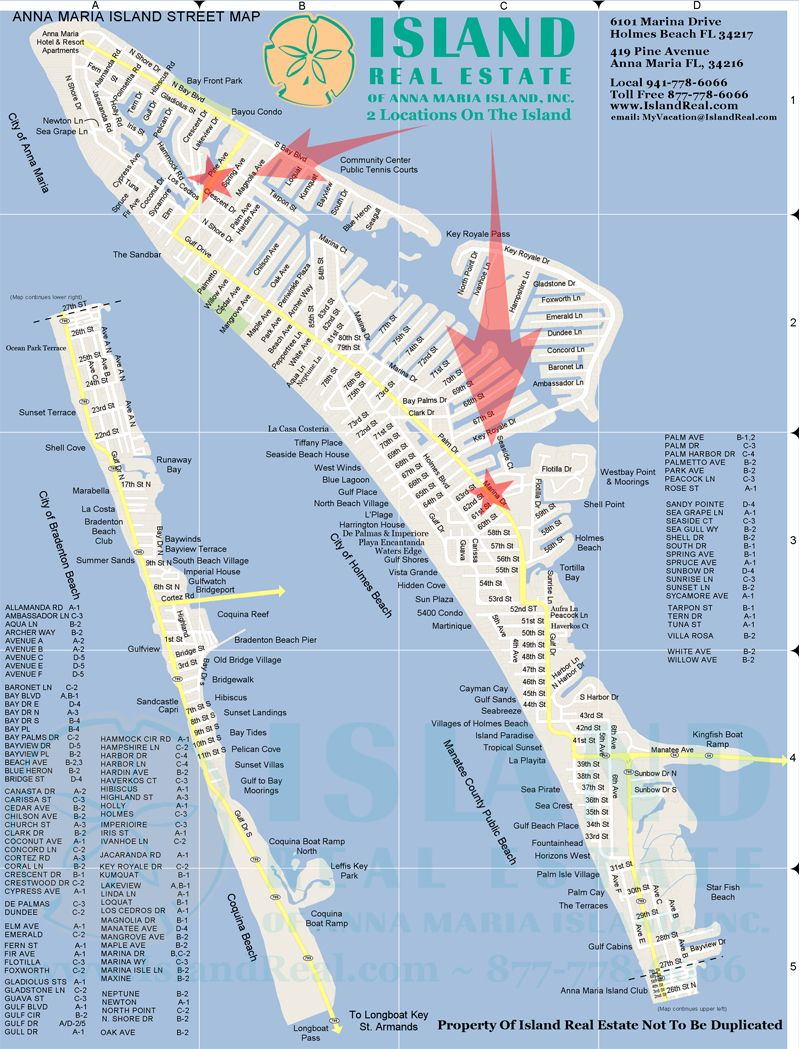 Map Of Florida Anna Maria Island Map of Anna Maria Island   Zoom in and out. | Anna Maria Island in