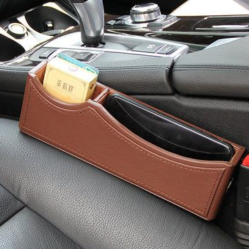 Favorable Leather Car Storage Bag Box Money Pot Beverage Holder Car Seat Pocket Organizer - NewChic Mobile. & Favorable Leather Car Storage Bag Box Money Pot Beverage Holder Car ...
