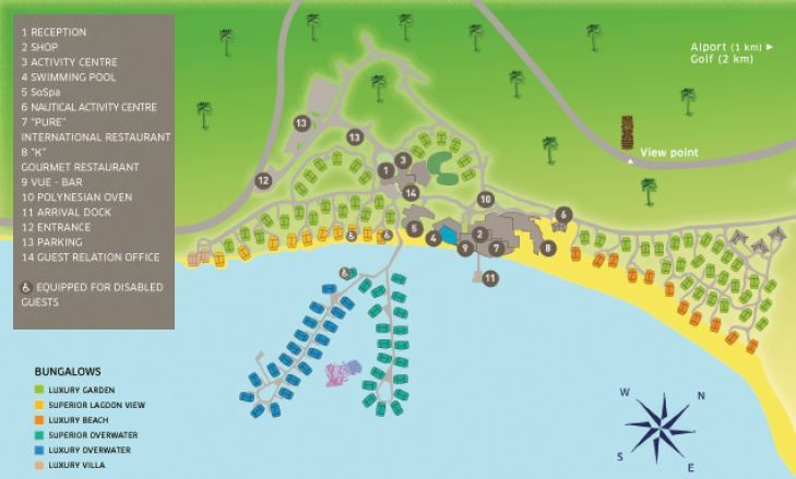 Custom Tahiti Travel Sofitel Moorea Ia Ora Layout Map