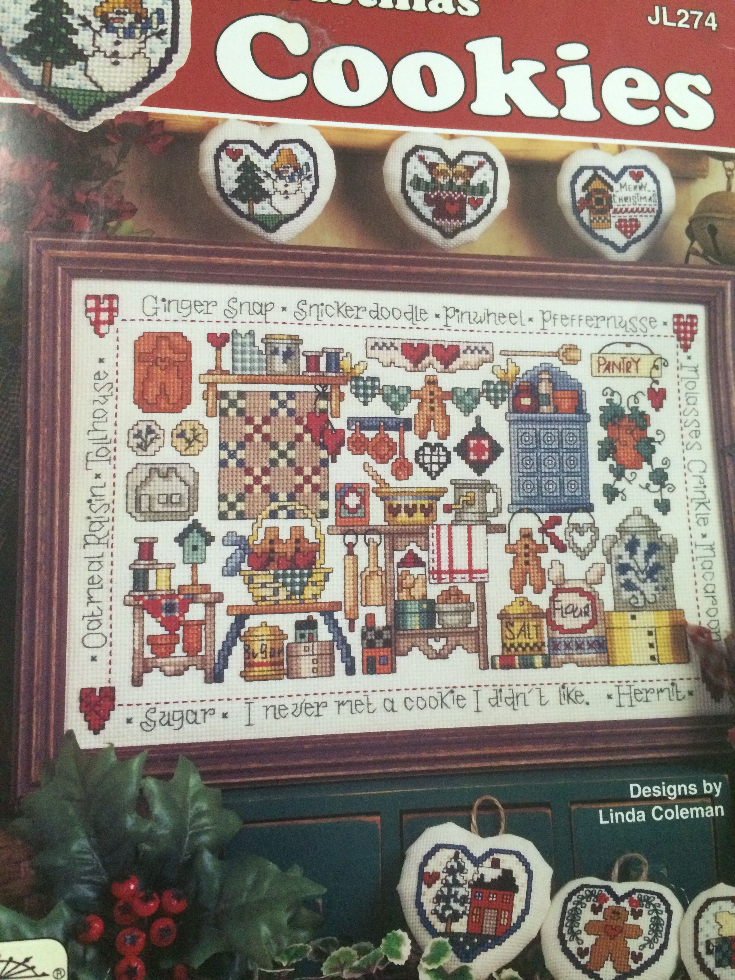 Cookie Sampler Cross Stitch Book Cookies Pattern #crossstitch #freepatterns