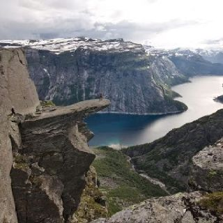 another pic from Trolltunga Rock above Skjeggedal, Odda, Norway