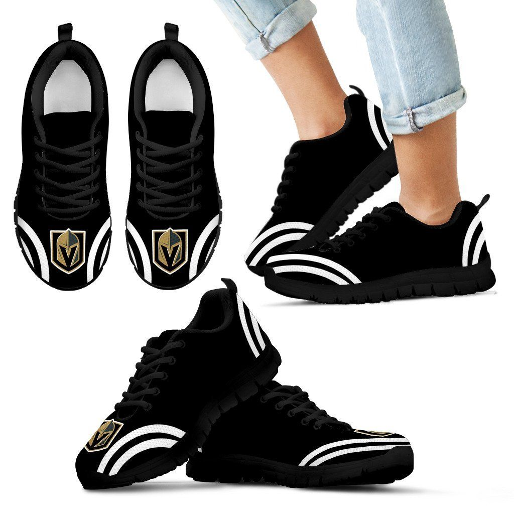 Lovely Curves Stunning Logo Icon Vegas Golden Knights Sneakers – Best Funny Store