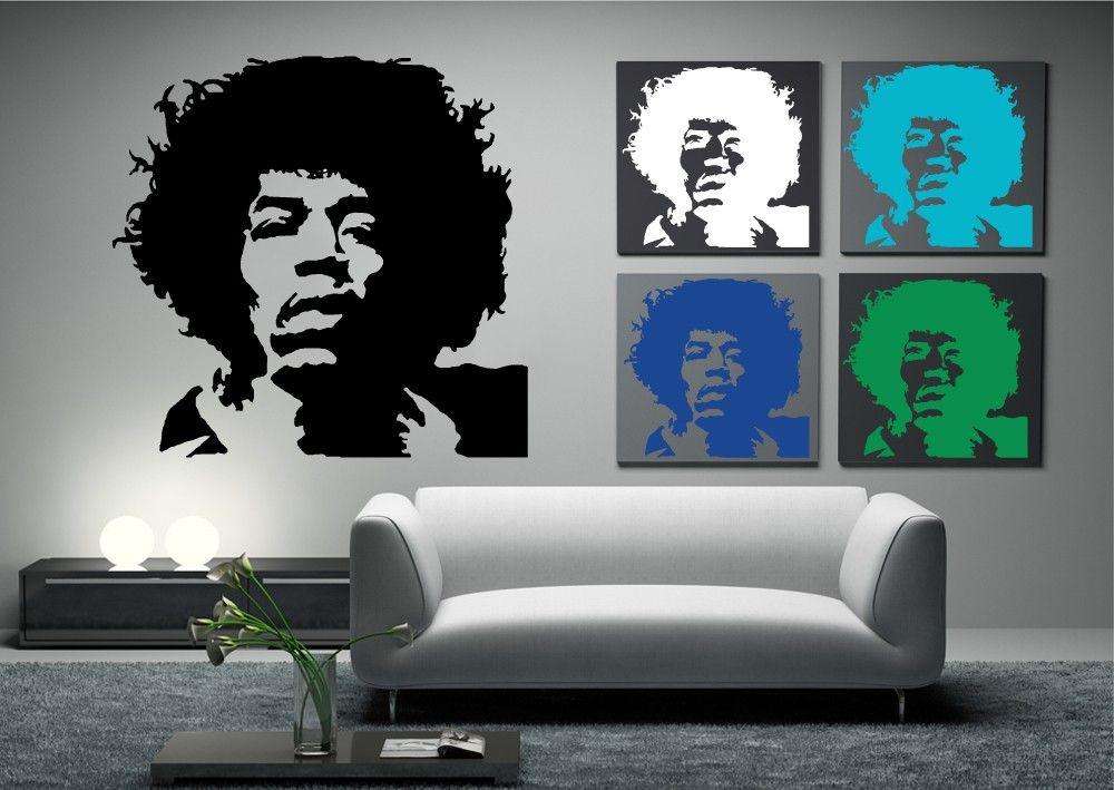 This Jimi Hendrix Wall Art is a striking silhouette of Mr Hendrix ...