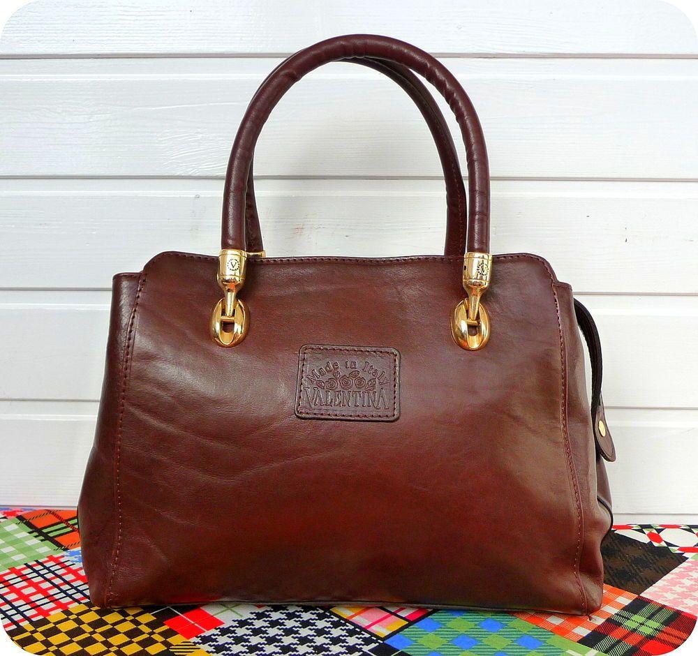 Luxus Leder Bag Schultertasche Damen Tasche Valentina WIbHYeED29