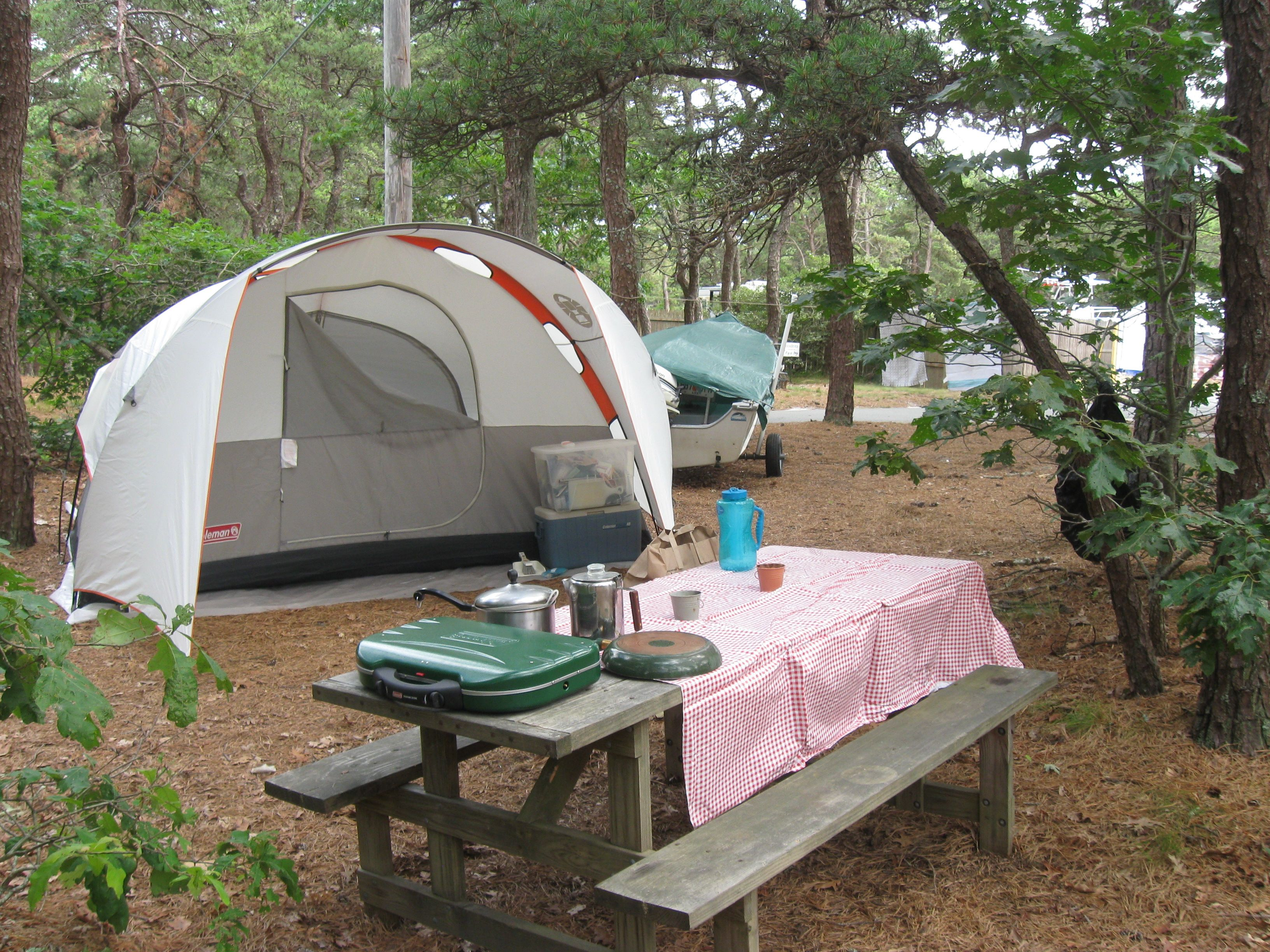Just your typical camping set up at Adventure Bound ...