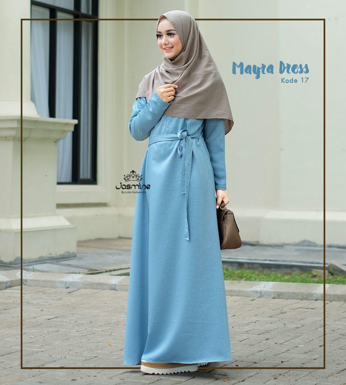 Gamis Jasmine Mayra Dress 17 Baju Wanita Busana Muslim Cantik Katun Hitam Rok 05 Untukmu Yg Syari Dan
