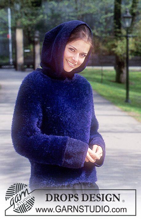 DROPS Sweater in Pelliza and Tynn Chenille. ~ DROPS Design