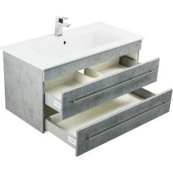 Photo of Badmöbel mit Villeroy & Boch Venticello Waschbecken 100 cm Beton EmotionEmotion