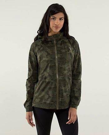 rise and shine jacket savasana camo size 10  athletic