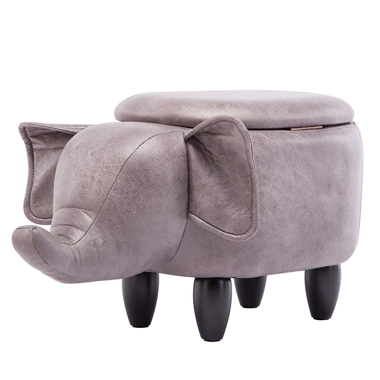 IWMH Animal Storage Stool, Ottoman,Creative & Cute Stool for