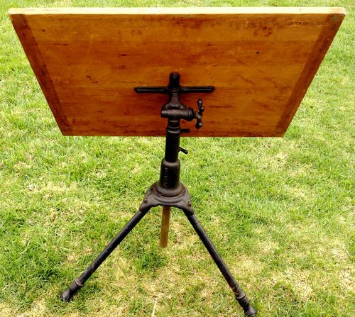 A Hoffman Co Cast Iron Industrial Drafting Table 1910 | eBay - A Hoffman Co Cast Iron Industrial Drafting Table 1910 EBay