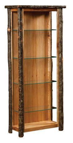 amish rustic hickory curio cabinet | rumah, dekorasi rumah