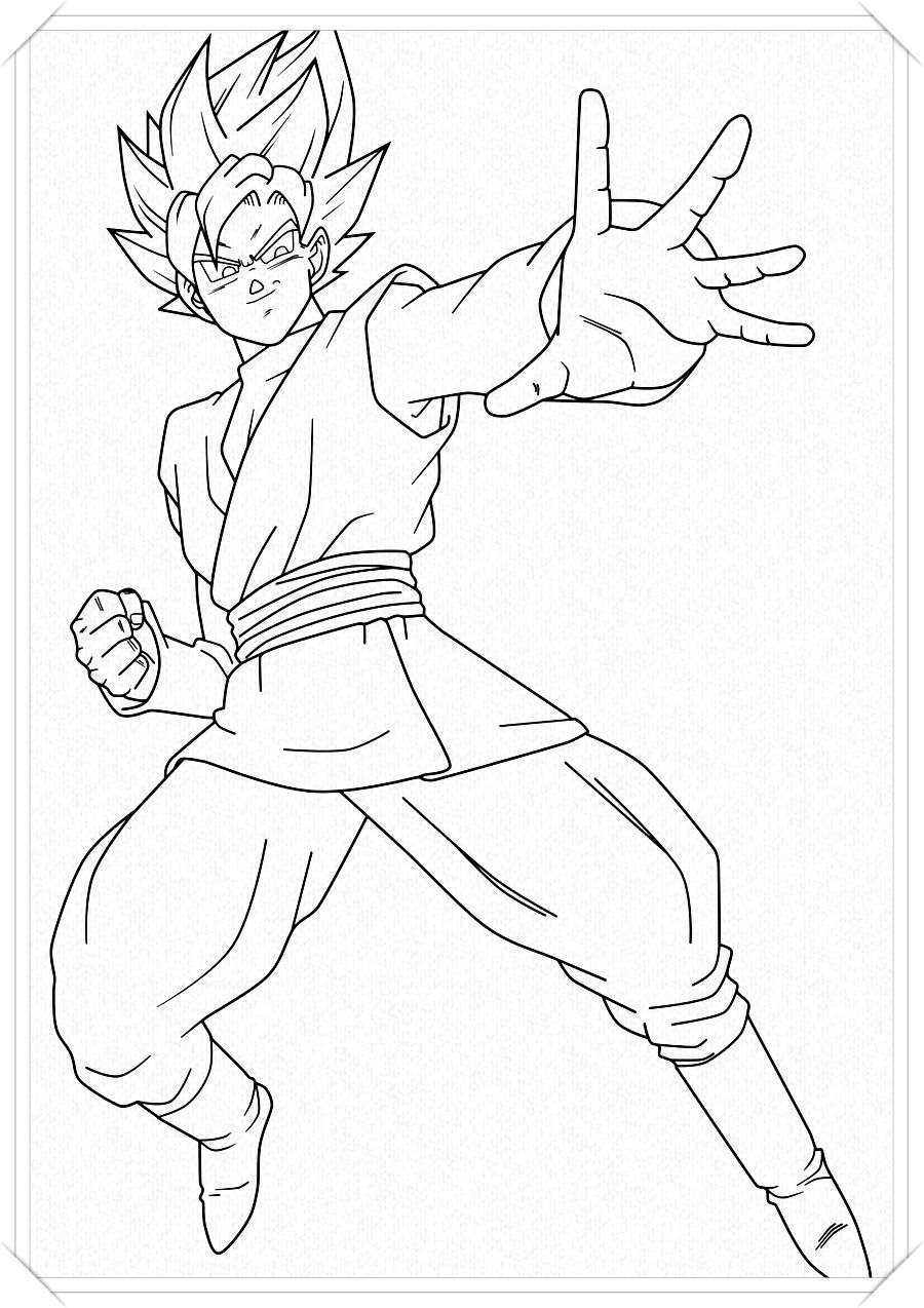 Los Mas Lindos Dibujos De Goku Para Colorear Y Pintar A Todo Color Imagenes Prontas Para Descargar E Impri Dibujo De Goku Como Dibujar A Goku Esbozo De Dragon