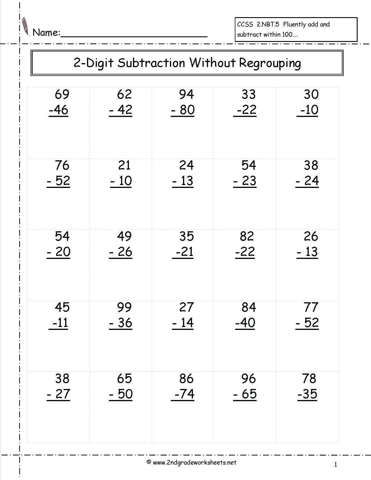 5 Free Math Worksheets First Grade 1 Addition Add In