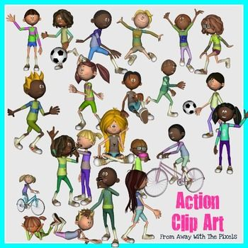Action Verbs Clip Art For Teachers Now With Blacklines Clip Art Action Verbs Teachers