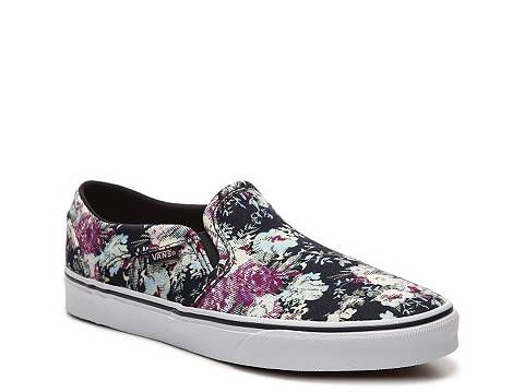 785d0a1e0016e6 Vans Asher English Rose Floral Slip-On Sneaker - Womens