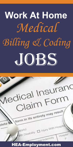 Remote medical billing work from home jobs are available