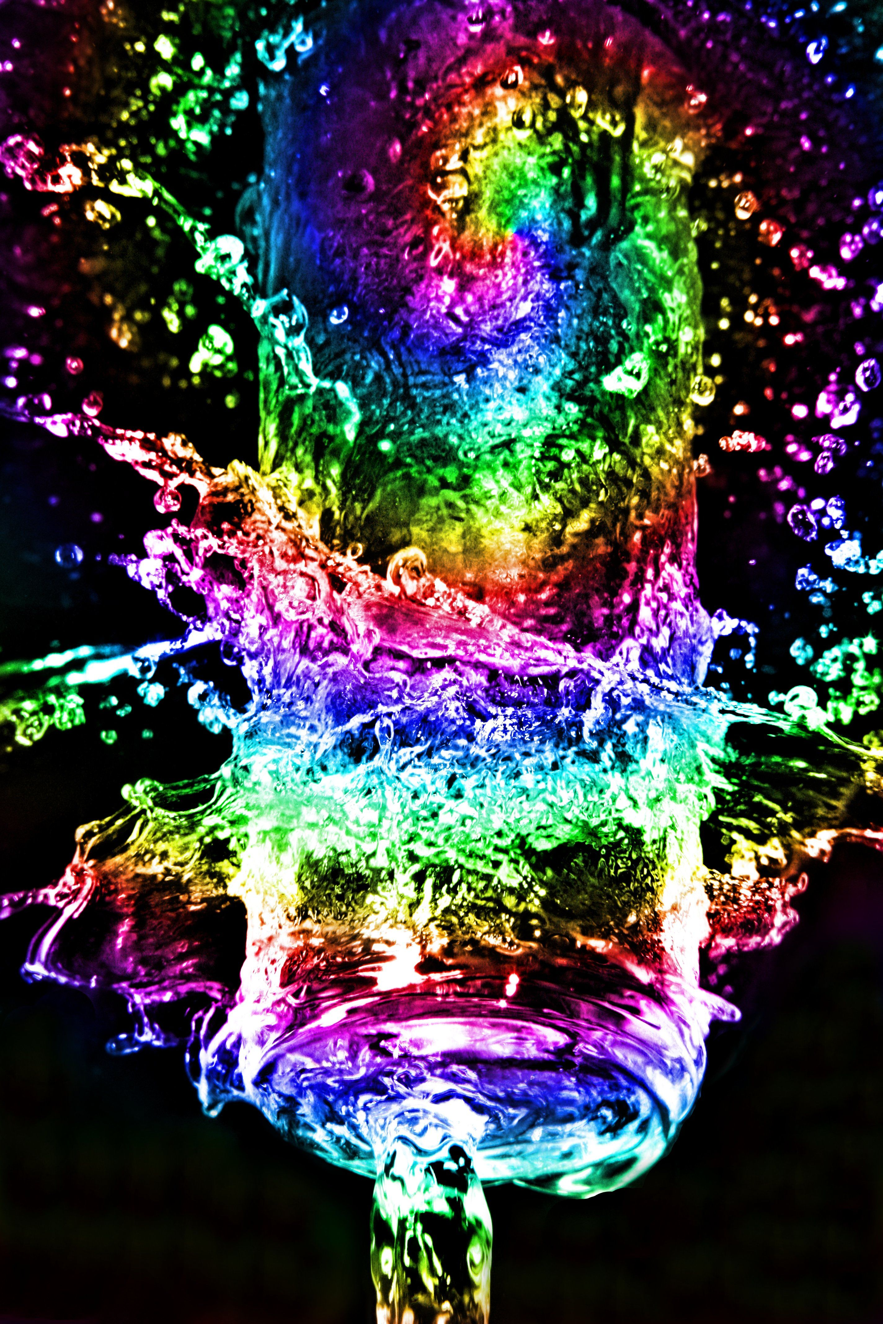 Nick Walsh Rainbow Water Neon Rainbow Rainbow Art