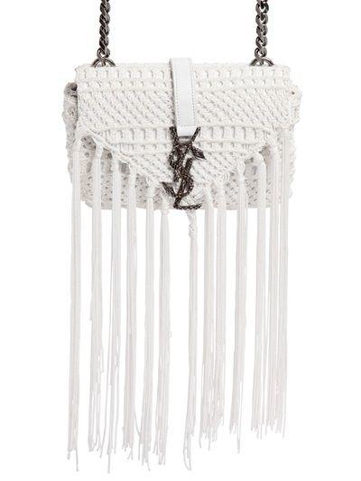 SAINT LAURENT Monogram Baby Chain Serpent Crochet Crossbody Bag ... ad68be338de30