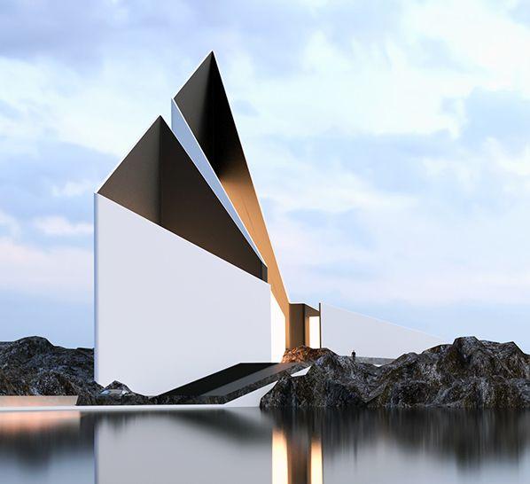 moderne architektur und modernes haus-design minimalistischer ... - Moderne Haus Architektur
