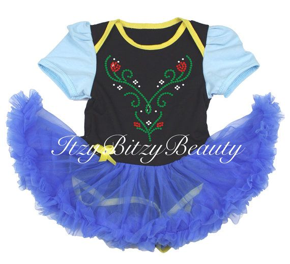 Rhinestone My Little Black Dress Bodysuit Pettiskirt Girl Baby Dress NB-18Month