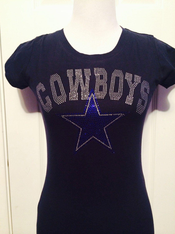Dallas Cowboys Rhinestone TShirt by TwistofBLING on Etsy  eed24acd4