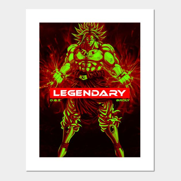 The legendary super saiyan Posters and Art Prints | Displate thumbnail