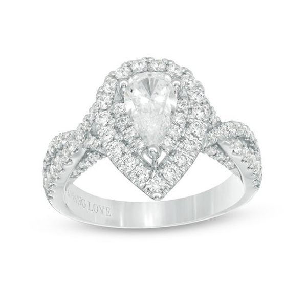 8d8b0454c4587 Vera Wang Love Collection 1-5/8 CT. T.W. Pear-Shaped Diamond Double ...