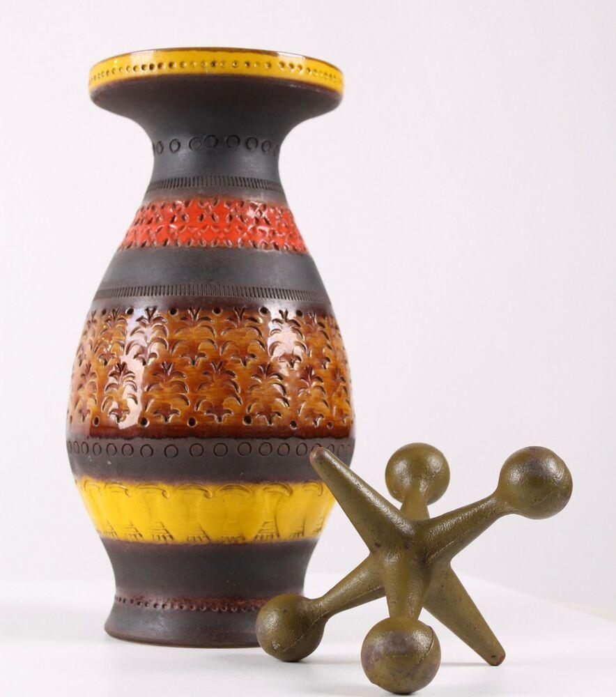 MCM Bitossi Raymor Vase statue Rimini red mid century
