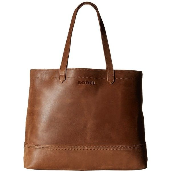 Sorel Leather Tote Elk Handbags 225 Liked On Polyvore Featuring Bags Bolsa Torbe Totes Purses