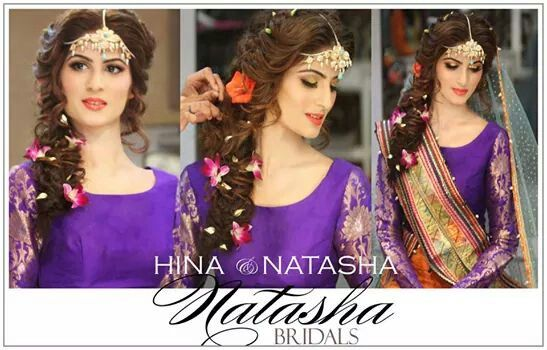 Hairstyles For Mehndi Party : Natasha salon. mehndi look bridal pinterest salon