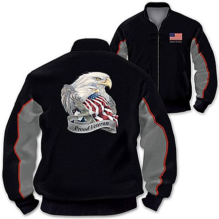 Jacket: U.S. Military Pride Veterans Salute Men's Jacket
