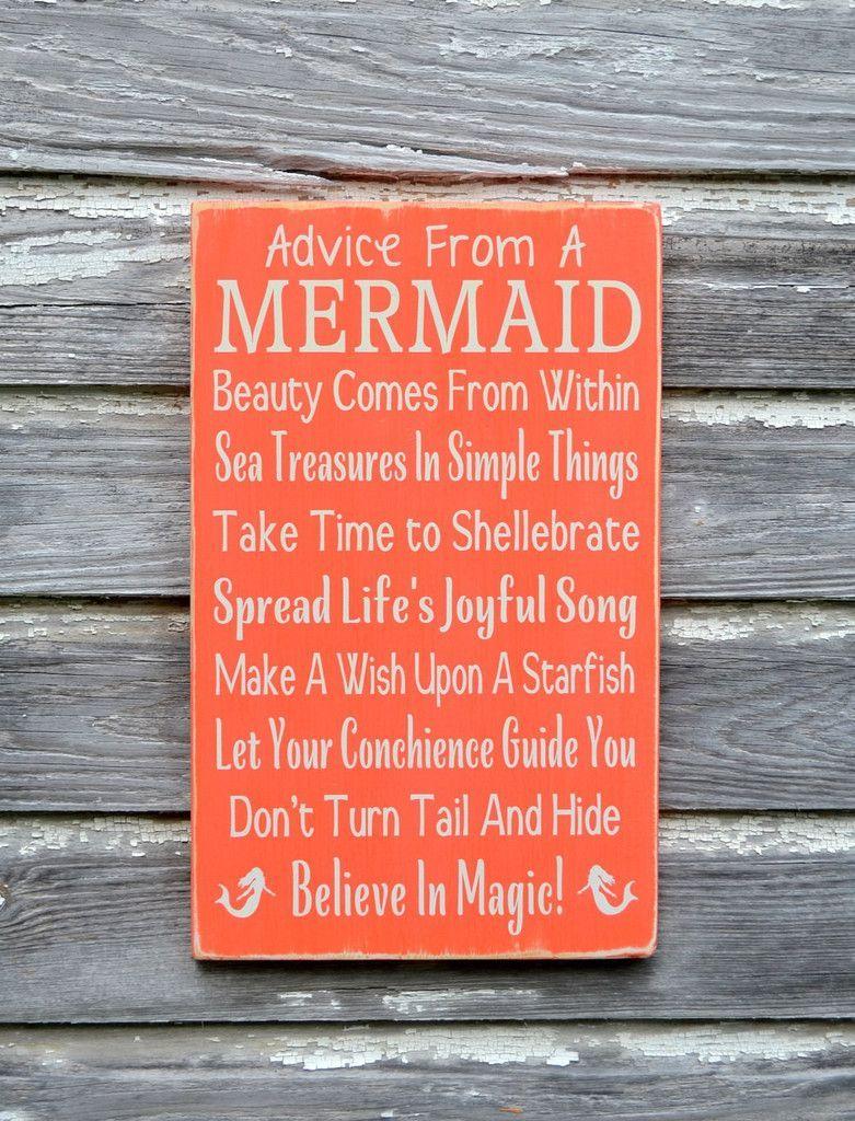 Mermaid Decor Beach Sign Custom Colors Advice From A Mermaids
