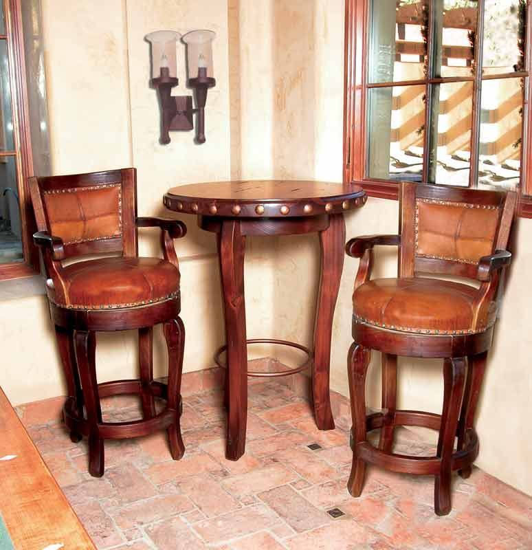 Bar Stools  Leather Swivel Bar Stools  Handmade In America At Magnificent Leather Swivel Dining Room Chairs Decorating Inspiration