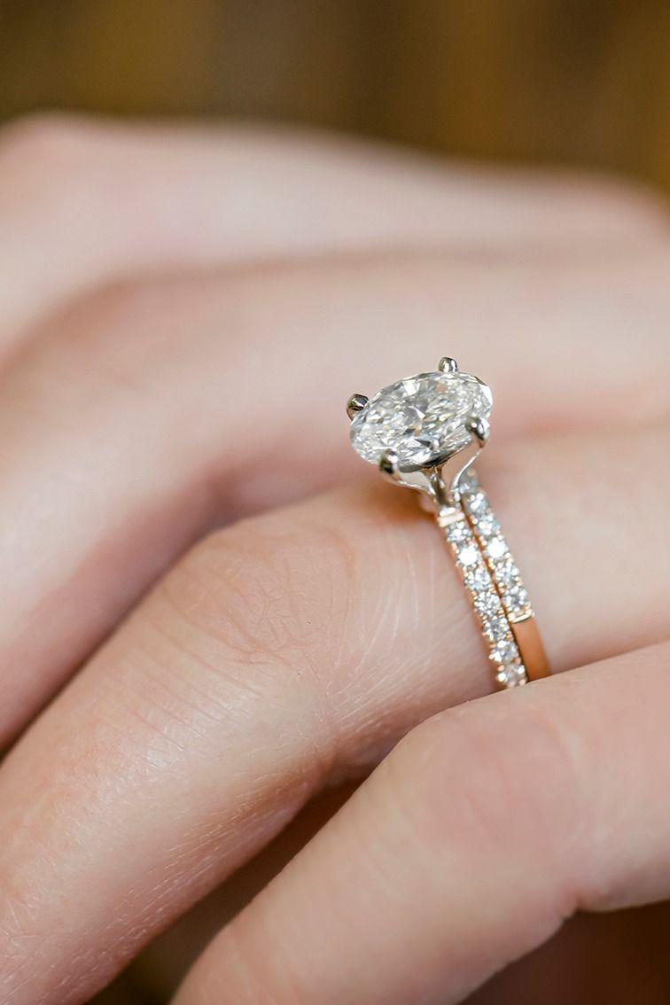 14k Rose Gold Pave Set Round Diamond
