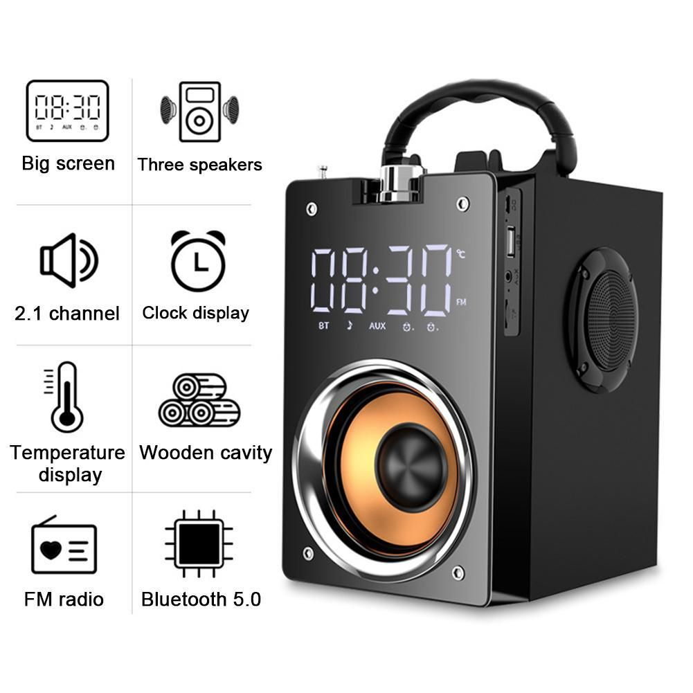 Bluetooth Speaker Portable High Power Wireless Stereo Subwoofer Heavy Bass Speakers Large Volume Mobile Outdoor Audio In 2020 Bluetooth Speakers Portable Subwoofer Bluetooth