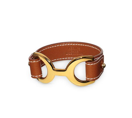 Pavane Hermes leather bracelet (size S) Natural tadelakt ...