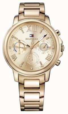 e52e3b48 Tommy Hilfiger Womens Claudia Rose Gold Tone Stainless Steel Rose Gold Dial  1781743