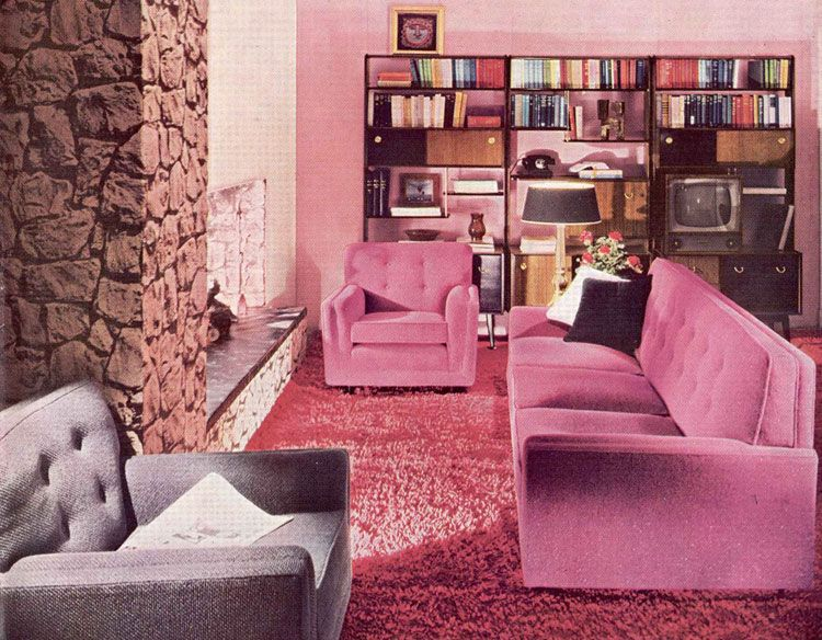 The 60s and 70s crazy wallpaper, wood paneled walls, home decor ...