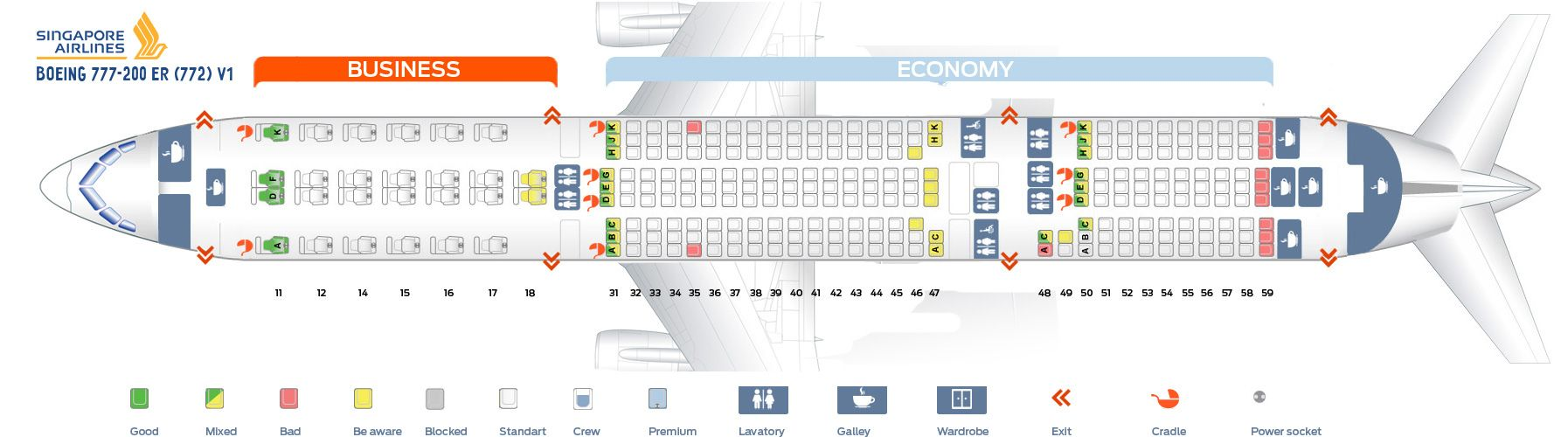 Singapore Airlines Fleet Boeing 777 200er Details And Pictures