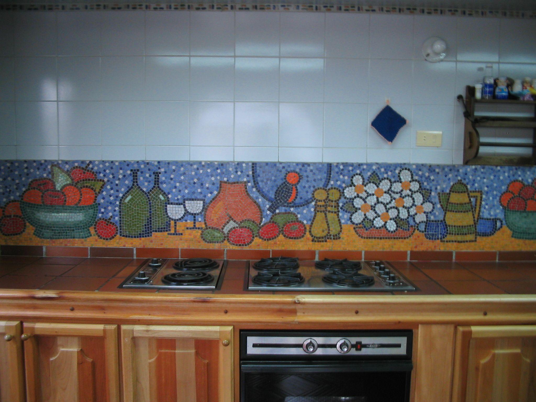 Mosaicos cocina azulejo mosaico acero inoxidable cocina y for Cocinas con mosaico