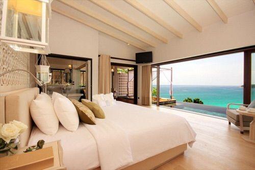Beach Beachhouse Bed Bedroom Bedrooms Blue Expensive Holidays Hotel Luxurious Luxury Ocean Pre Luxurious Bedrooms Beautiful Bedrooms My Dream Home
