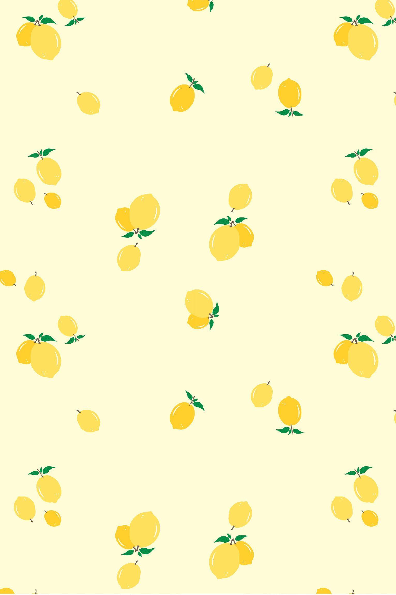 Lemon Seamless Con Sfondo Bianco Off Da Caro Terranova Yellow Aesthetic Pastel Lemon Background Yellow Wallpaper